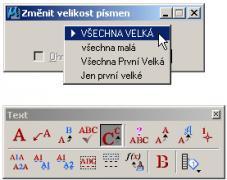 Nový nástroj na změnu VELKÁ/malá písmena