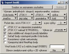 export bodů